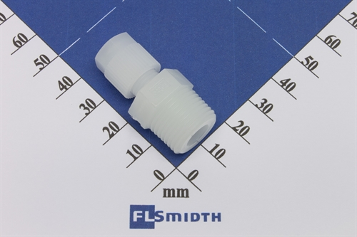 "Connector, 6mm-3/8"", PVDF"
