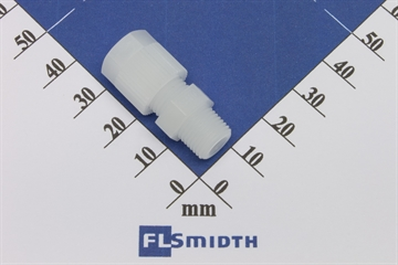 "Connector, 6mm-1/8"", PVDF"