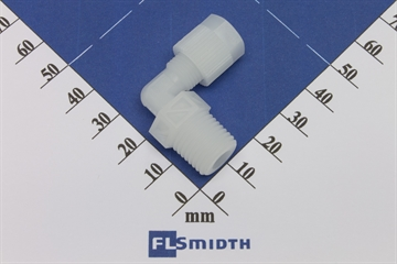 "Elbow, 6mm-1/4"", PVDF"