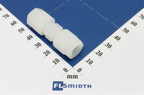 Connector, 8mm, PVDF