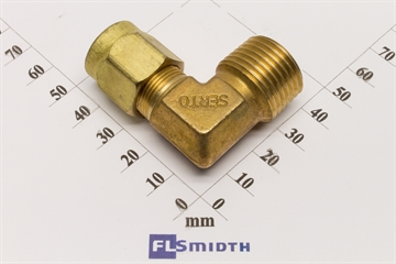 "Elbow, 12mm-1/2"", brass"