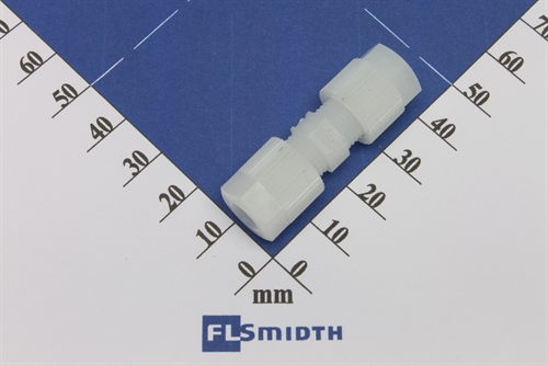 Connector, 6-6mm, PVDF