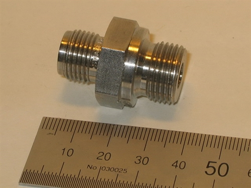 "Connector, 10mmOD-3/8""RT, SS"