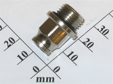 "Connector, 6mm-1/4"",Brass,snap"