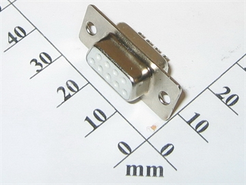 Connector, SUB-D, 9way, female