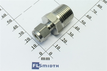 "Connector, 1/4""OD-½""RT, SS"