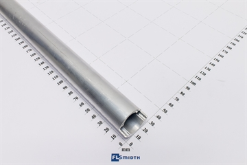 Alu tube for heated pipe 1547